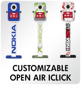 customizable Open Air IClick Rentals