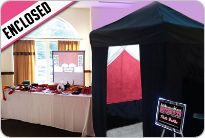 Enclosed Photo Booth Rentals Boston MA