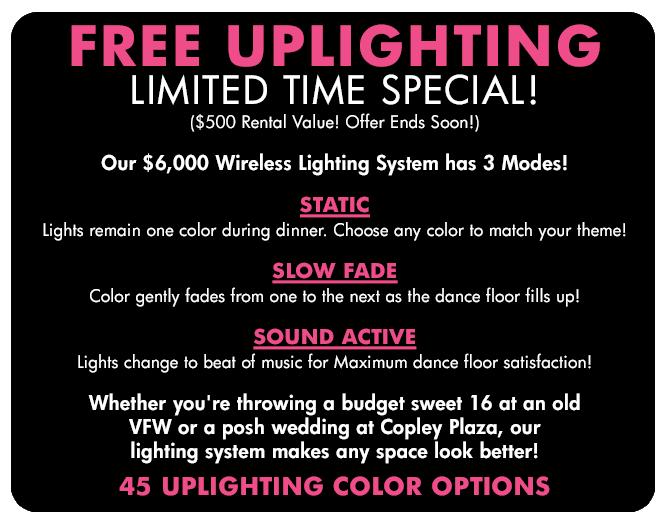 FREE Uplighting Specials Boston MA
