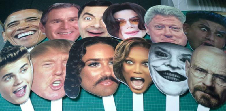 We Have over 100 Celebrity Heads on Sticks. Your Guests will LOVE them!