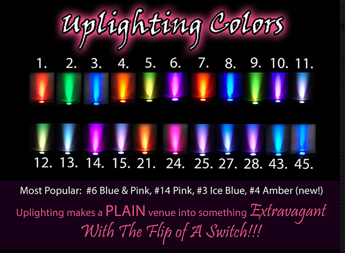 Uplighting Color Combinations